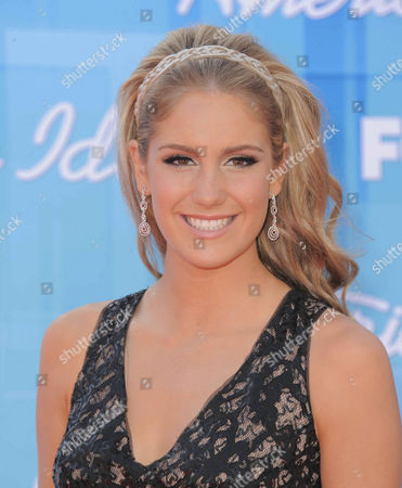 Shannon Magrane arrives at the American Idol Finale on in Los Angeles