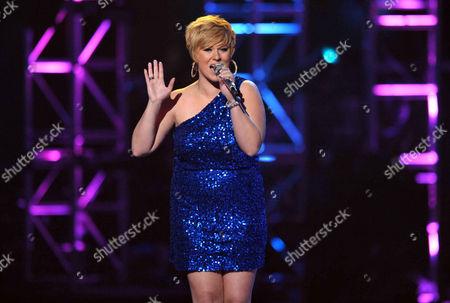 Erika Van Pelt performs onstage at the American Idol Finale on in Los Angeles
