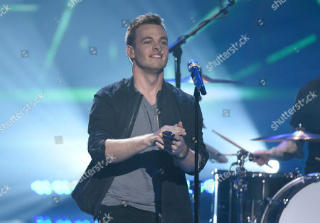 Finalist Clark Beckham performs at the American Idol XIV finale at the Dolby Theatre, in Los Angeles