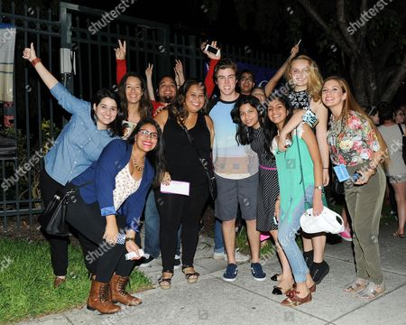 EXCLUSIVE IMAGE Sam Woolf meets fans following American Idols Live! 2014 at the Broward Center for the Performing Arts on in Ft Lauderdale, Florida. (Photo by