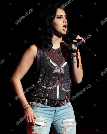 EXCLUSIVE IMAGE Jena Irene Asciutto performs during American Idols Live! 2014 at the Broward Center for the Performing Arts on in Ft Lauderdale, Florida. (Photo by