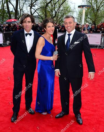 Stephen Mangan, Tamsoin Greig and Matt Le Blanc at the Arqiva British Academy Television Awards BAFTA in London, May 12th, 2013