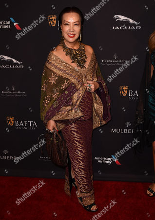 Sue Wong arrives at the BAFTA 2015 awards season tea party at The Four Seasons Hotel on in Los Angeles