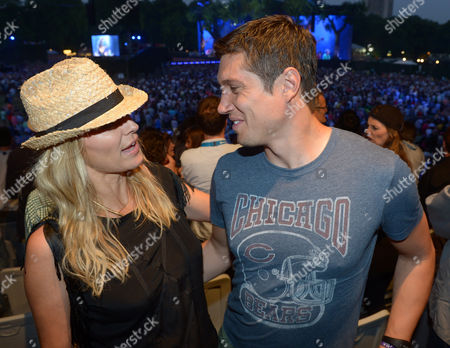 Tess Daly and Vernon Kaye attend Barclaycard presents British Summer Time at Hyde Park in London on