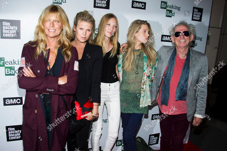 "Stock Photo of Theodora Richards, Ella Rose Richards Keith Richards, right, his daughter Theodora, granddaughter Ella Rose, daughter Alexandra Richards, and wife Patti Hansen attend the ""Breaking Bad"" final episodes premiere hosted by the Film Society of Lincoln Center on in New York"