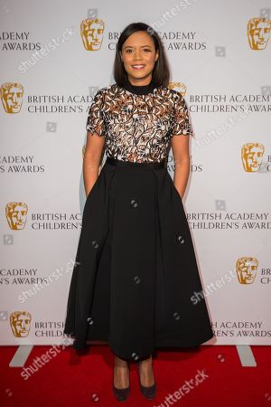 Stock Photo of Leah Boleto poses for photographers upon arrival at the BAFTA Children's awards, in London
