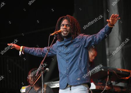 Jamaican reggae artist Jamar McNaughton Jr, popularly known as Chronixx, performs at Glastonbury Music Festival on at Worthy Farm, in Glastonbury, England