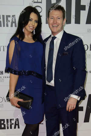 Jasmin Duran and Nick Moran pose for photographers upon arrival at the British Independent Film Awards 2015 in London