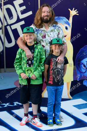 Justin Lee Collins arrives for the UK screening of Inside Out at a central London cinema, London