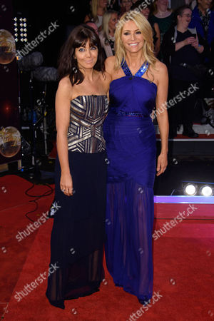 Stock Image of From left, Britsh presenters, Claudia Winkleman and Tess Daley pose for photographers at the Strictly Come Dancing 2015 launch event at Elstree Film Studios, London