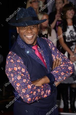 Stock Image of Ainsley Harriot poses for photographers at the Strictly Come Dancing 2015 launch event at Elstree Film Studios, London