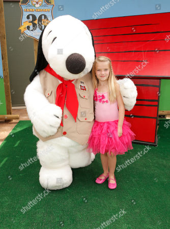Mia Talerico attends the Camp Snoopy's 30th Anniversary VIP Party at Knott's Berry Farm on in Buena Park, California