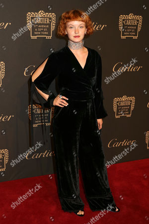 Kacy Hill attends the Cartier Fifth Avenue Mansion grand reopening celebration, in New York