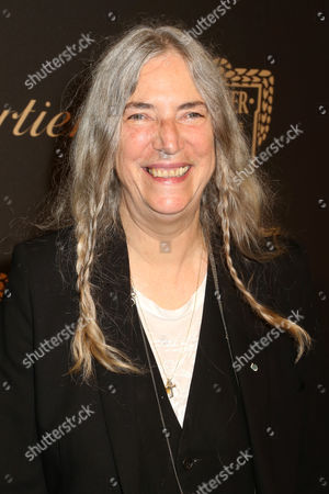 Patty Smith attends the Cartier Fifth Avenue Mansion grand reopening celebration, in New York