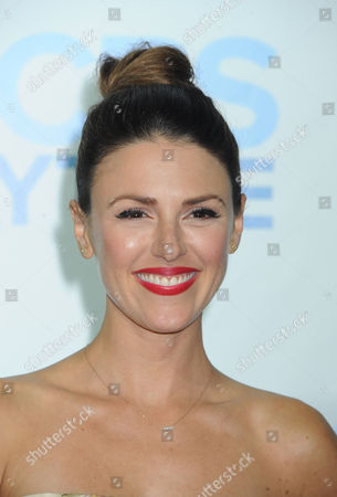 Elizabeth Hendrickson arrives at The CBS Daytime Emmy Awards Afterparty at the Aqua Star Pool, Beverly Hilton,, in Beverly Hills, CA
