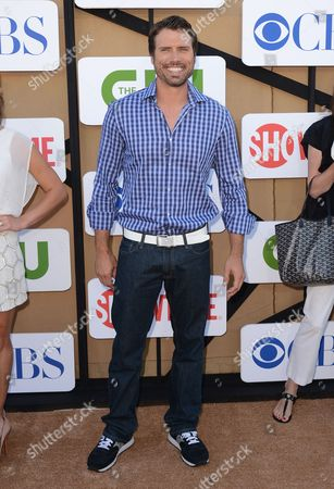 Joshua Morrow arrives at the CBS, CW and Showtime TCA party at The Beverly Hilton on in Beverly Hills, Calif