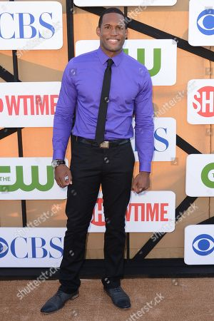 Lawrence Saint-Victor arrives at the CBS, CW and Showtime TCA party at The Beverly Hilton on in Beverly Hills, Calif