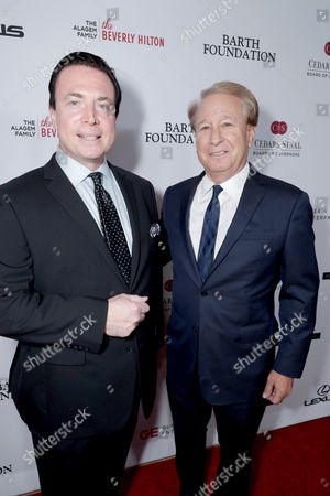 Frank Mottek and John Bendheim seen at Cedars-Sinai Board of Governors honoring Adele and Beny Alagem and Sylvester Stallone at 2016 Annual Gala at Beverly Hilton Hotel, in Beverly Hills