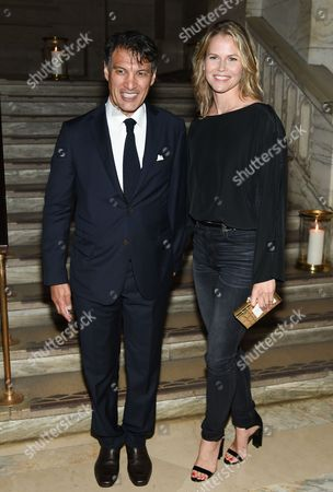 Frederic Fekkai and wife Shirin von Wulffen attend the Chanel Fine Jewelry event to celebrate the opening of a new permanent collection at The New York Public Library, in New York