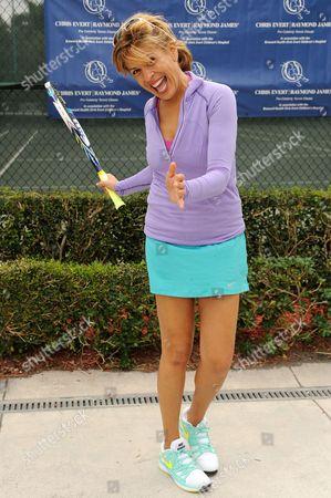 Hoda Kobt participates in The 25th Annual Chris Evert/Raymond James Pro-Celebrity Tennis Classic at Delray Beach Tennis Center on in Delray Beach, Florida