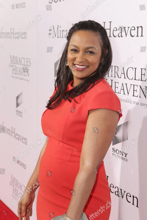 Stock Photo of Adriane Hopper Williams seen at Columbia Pictures world premiere of 'Miracles from Heaven' at ArcLight Hollywood, in Hollywood, CA
