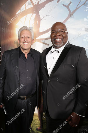 Producer Joe Roth and T.D. Jakes, Founder and CEO of TDJ Enterprises, seen at Columbia Pictures world premiere of 'Miracles from Heaven' at ArcLight Hollywood, in Hollywood, CA