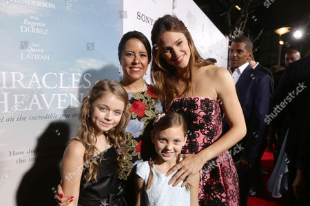 Kylie Rogers, Director Patricia Riggen, Courtney Fansler and Jennifer Garner seen at Columbia Pictures world premiere of 'Miracles from Heaven' at ArcLight Hollywood, in Hollywood, CA