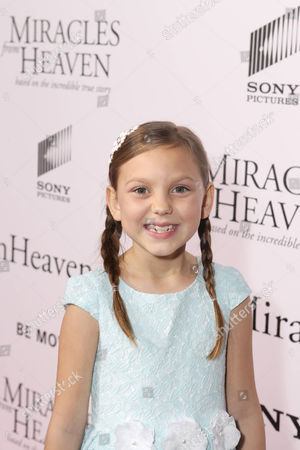 Courtney Fansler seen at Columbia Pictures world premiere of 'Miracles from Heaven' at ArcLight Hollywood, in Hollywood, CA