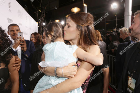 Stock Photo of Courtney Fansler and Jennifer Garner seen at Columbia Pictures world premiere of 'Miracles from Heaven' at ArcLight Hollywood, in Hollywood, CA