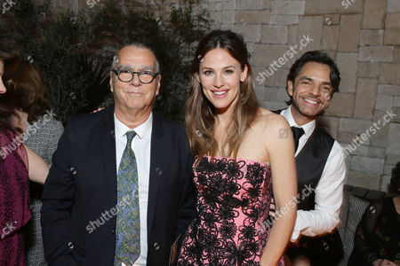 Composer Carlo Siliotto, Jennifer Garner and Eugenio Derbez seen at Columbia Pictures world premiere of 'Miracles from Heaven' at ArcLight Hollywood, in Hollywood, CA