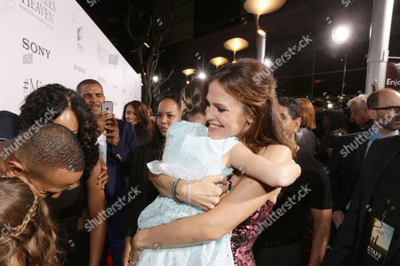 Stock Picture of Courtney Fansler and Jennifer Garner seen at Columbia Pictures world premiere of 'Miracles from Heaven' at ArcLight Hollywood, in Hollywood, CA