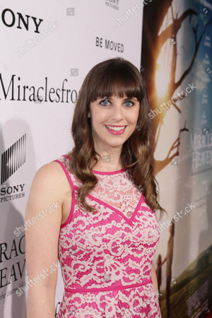 Amanda Markowitz seen at Columbia Pictures world premiere of 'Miracles from Heaven' at ArcLight Hollywood, in Hollywood, CA