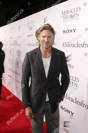 Noah Huntley seen at Columbia Pictures world premiere of 'Miracles from Heaven' at ArcLight Hollywood, in Hollywood, CA
