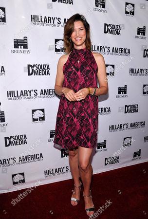 "Sandra Lynn Sorbo seen at D'Souza Media Premiere of ""Hillary's America"", in Los Angeles, CA"