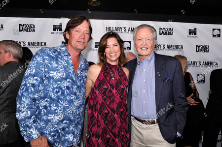 """Kevin Sorbo, Sandra Lynn Sorbo and Jon Voight seen at D'Souza Media Premiere of """"Hillary's America"""", in Los Angeles, CA"""