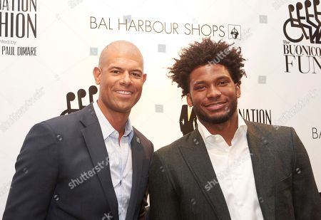 Miami Heat stars Shane Battier, left, and Justise Winslow attend Destination Fashion 2016 to Benefit the Buoniconti Fund to Cure Paralysis at Bal Harbour Shops, in Bal Harbour, Fla