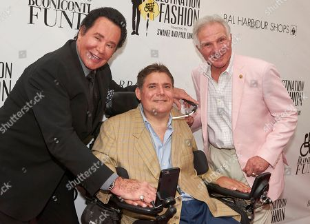 Mr. Las Vegas Wayne Newton, from left, Marc Buoniconti, and Hall of Famer Nick Buoniconti attend Destination Fashion 2016 to Benefit the Buoniconti Fund to Cure Paralysis at Bal Harbour Shops, in Bal Harbour, Fla
