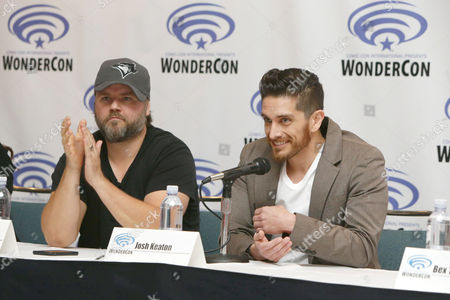 "Tyler Labine and Josh Keaton seen at DreamWorks Animation ""Voltron: Legendary Defender"" Wondercon Presentation at Los Angeles Convention Center, in Los Angeles, CA"