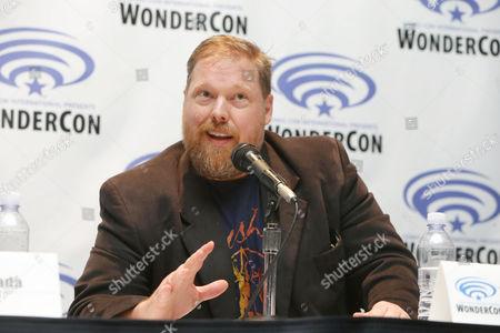 "Writer Tim Hedrick seen at DreamWorks Animation ""Voltron: Legendary Defender"" Wondercon Presentation at Los Angeles Convention Center, in Los Angeles, CA"