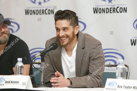 "Stock Photo of Josh Keaton seen at DreamWorks Animation ""Voltron: Legendary Defender"" Wondercon Presentation at Los Angeles Convention Center, in Los Angeles, CA"