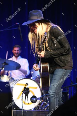Artist Holly Williams performs at the Dylan Fest at Ryman Auditorium, in Nashville, Tenn