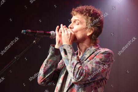 Artist Brendan Benson performs at the Dylan Fest at Ryman Auditorium, in Nashville, Tenn