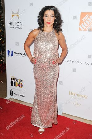 Jeanette Jenkins attends EBONY Magazine's Power 100 Gala held at the Beverly Hilton Hotel, in Beverly Hills, Calif