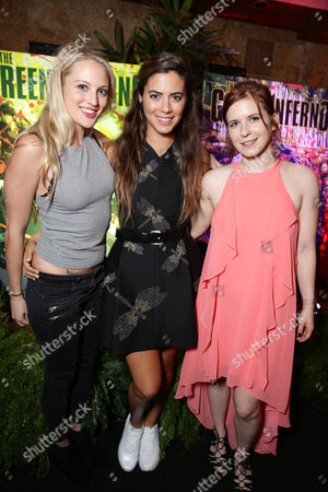 """Kirby Bliss Blanton, Lorenza Izzo and Magda Apanowicz seen at Eli Roth and BH Tilt """"The Green Inferno"""" at 2015 Comic-Con, in San Diego"""