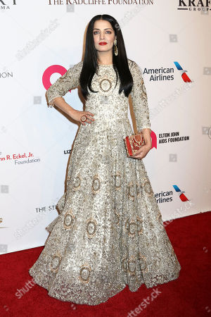 Celina Jaitly attends the Elton John AIDS Foundation's 15th Annual An Enduring Vision Benefit at Cipriani Wall Street, in New York