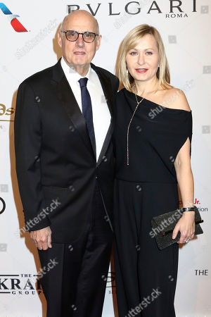 Jeffrey Tambor, left, and Kasia Tambor attend the Elton John AIDS Foundation's 15th Annual An Enduring Vision Benefit at Cipriani Wall Street, in New York
