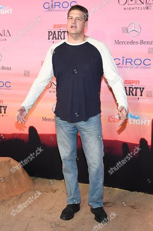 Mike Golic attends the ESPN Super Bowl XLIX Party on in Scottsdale, Ariz