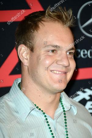"""Denver Broncos' fullback Chris Gronkowski arrives at ESPN The Magazine's """"Next"""" Event on in New Orleans"""