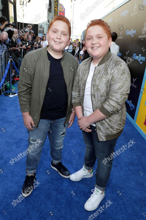 """Benjamin Royer and Matthew Royer seen at EuropaCorp Presents the World Premiere of """"Nine Lives"""" at TCL Chinese Theatre, in Los Angeles"""