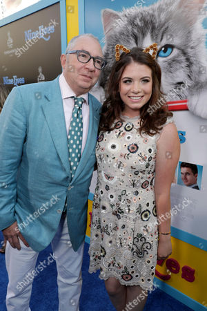"""Director Barry Sonnenfeld and Chloe Sonnenfeld seen at EuropaCorp Presents the World Premiere of """"Nine Lives"""" at TCL Chinese Theatre, in Los Angeles"""